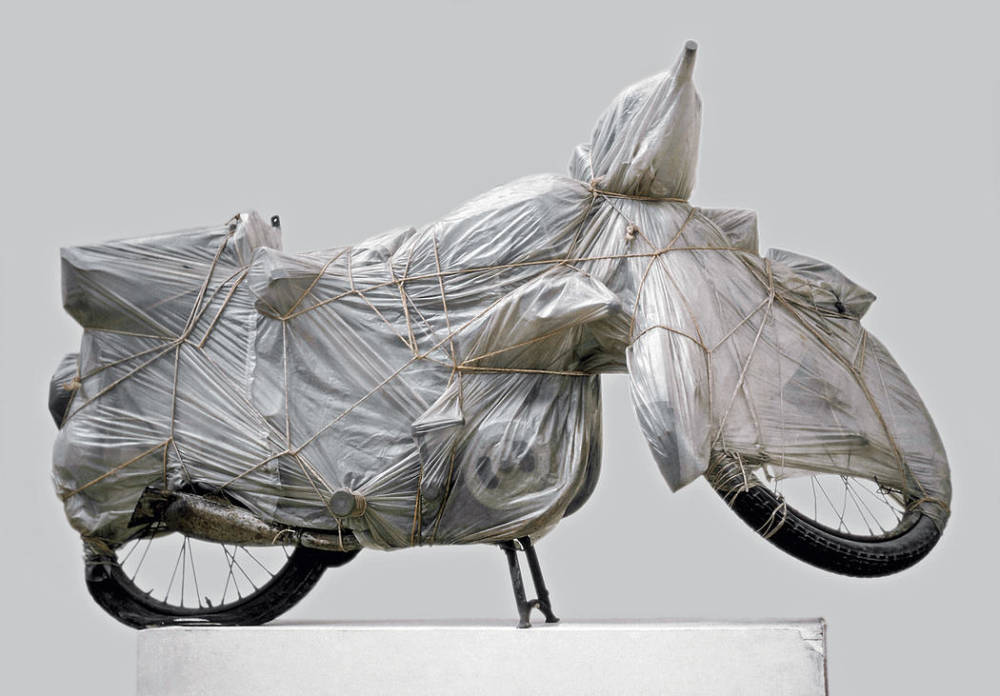 Jeanne-Claude and Christo , Wrapped Motorcycle, 1962