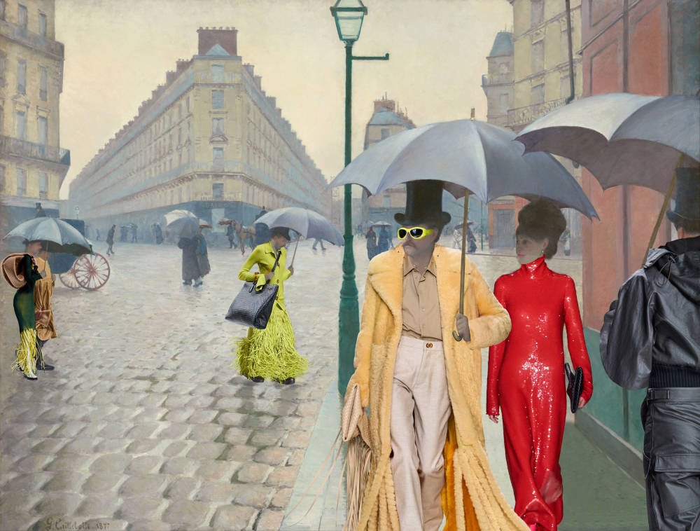 Gustave Caillebotte, Paris Street; Rainy Day (in Bottega Veneta), 1877