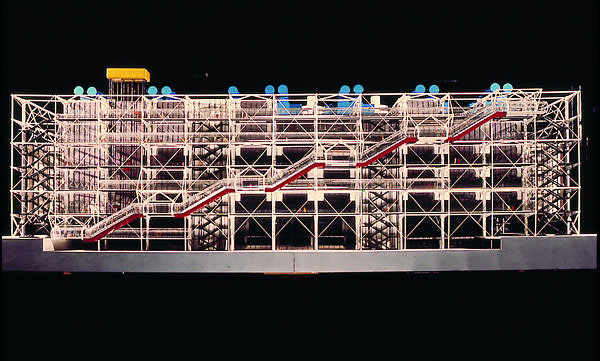 Richard Rogers, Renzo Piano and Gianfranco Franchini,  Centre Pompidou, 1977