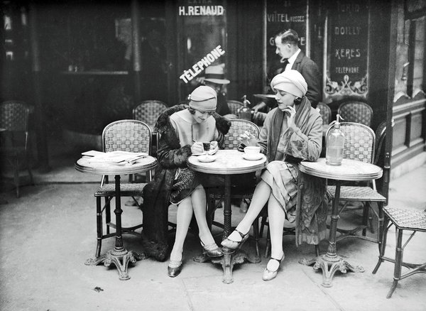 Terrace of cafe  paris  1925