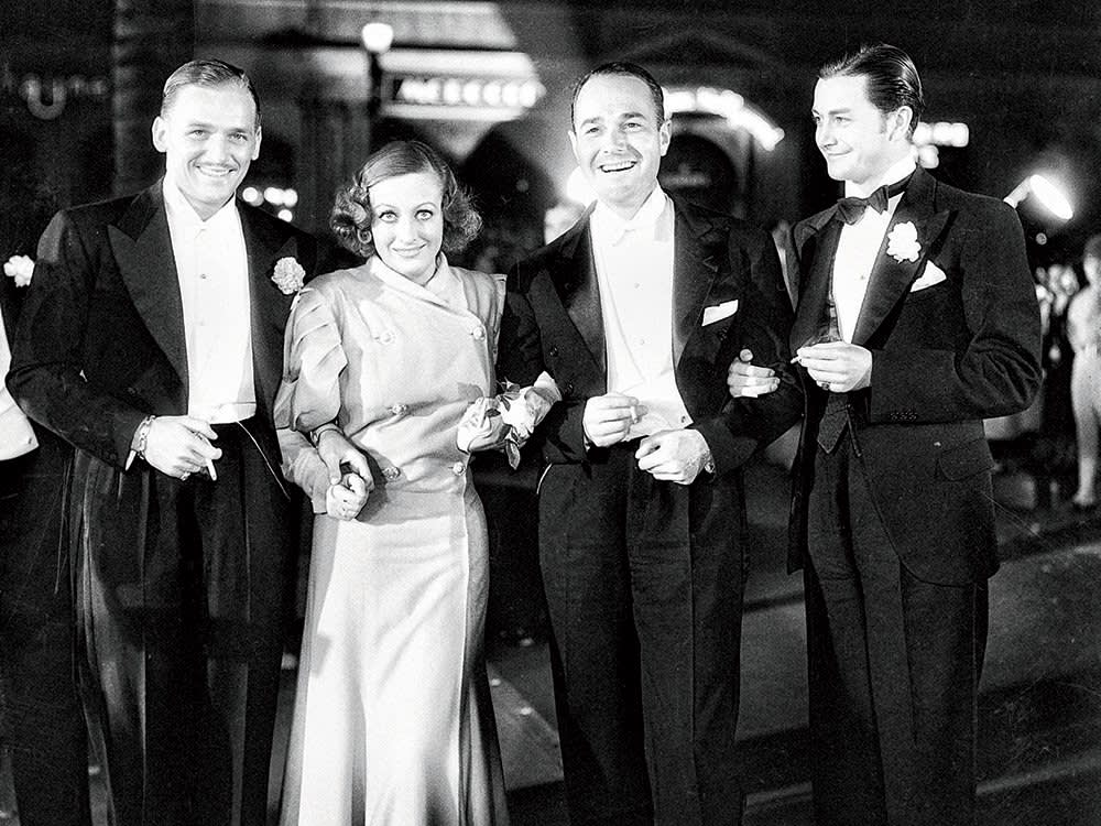 Douglas Fairbanks Jr., Joan Crawford, William Haines, and Robert Montgomery , After the first Academy Awards, 1929