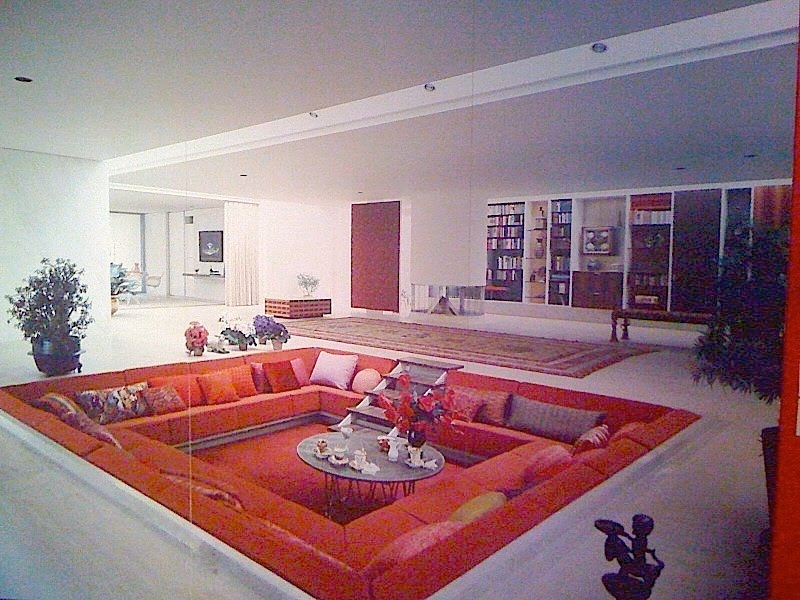 J irwin miller house designed by eero saarinen with interiors by alexander girard  1953
