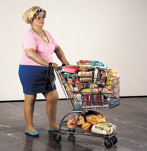 Duane hanson  supermarket shopper  1970