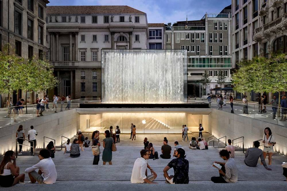 Foster + Partners, Apple Store, Milan
