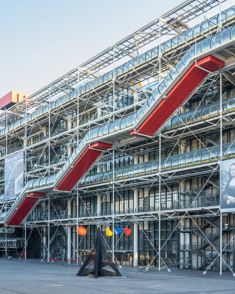 Richard Rogers, Renzo Piano and Gianfranco Franchini, Centre Pompidou, Escalator Detail, 1977