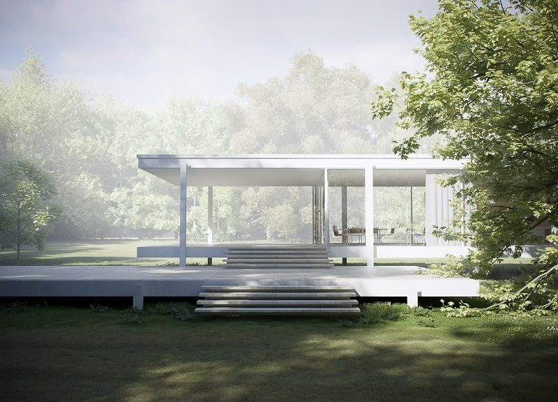 Mies van der rohe  farnsworth house  plano  illinois  1951