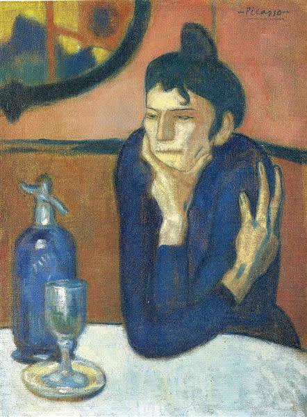 Pablo Picasso , The Absinthe Drinker, 1901