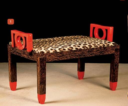 Gustave miklos  foot stool  c.1920