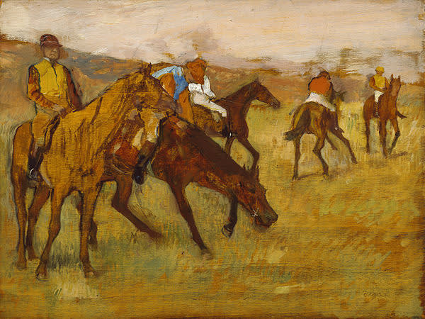 Edgar degas  before the race  1882 84