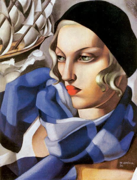 Tamara de lempicka  the blue scarf  1930