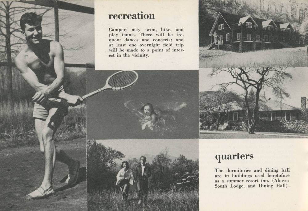 Black Mountain College , Work Camp, Dossier, 1944