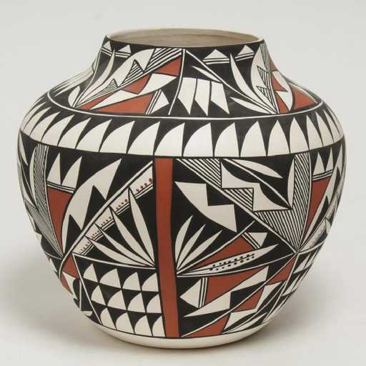 Acoma pueblo native american jar
