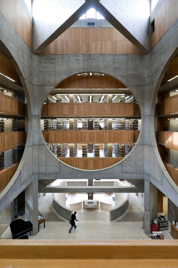 Library  phillips exeter academy  exeter  new hampshire  louis kahn  1965 72