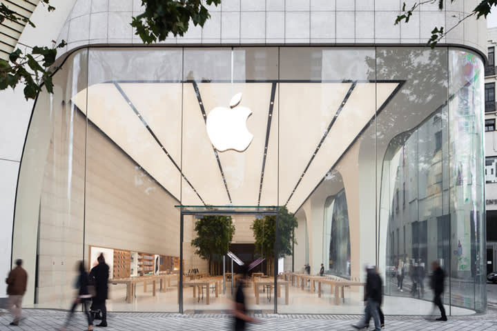 Foster + Partners, Apple Store, Brussels