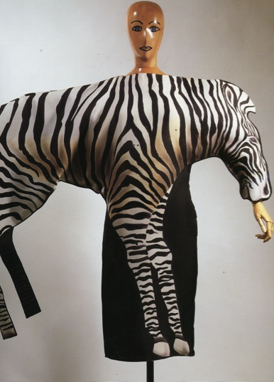 Jean charles de castelbajac  zebra dress  fall winter 1986