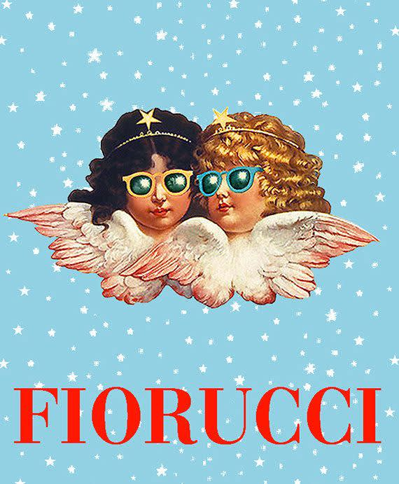 Fiorucci , Double Cherub Logo Stars and Sunglasses Iteration