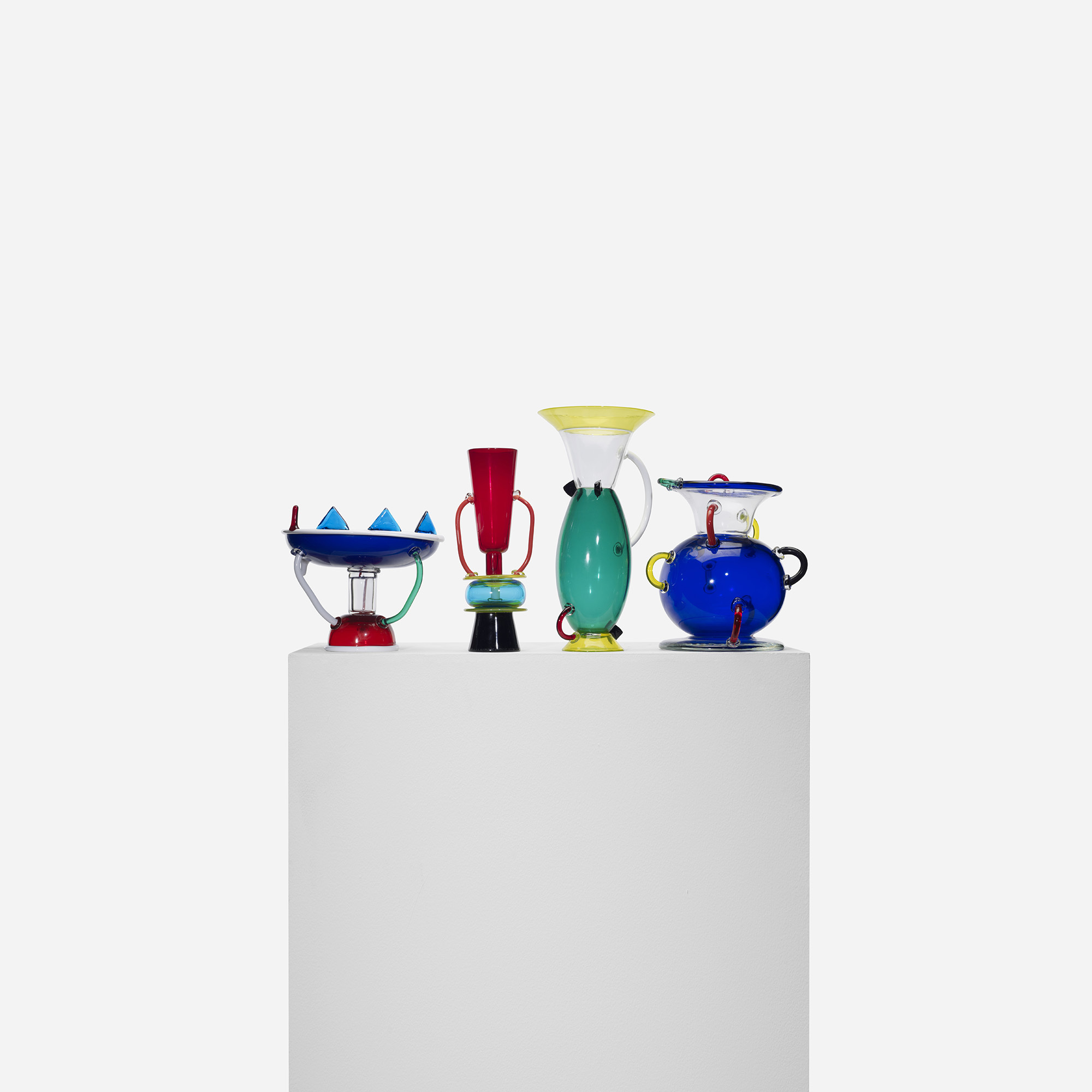 Ettore sottsass  collection of four vessels  1982
