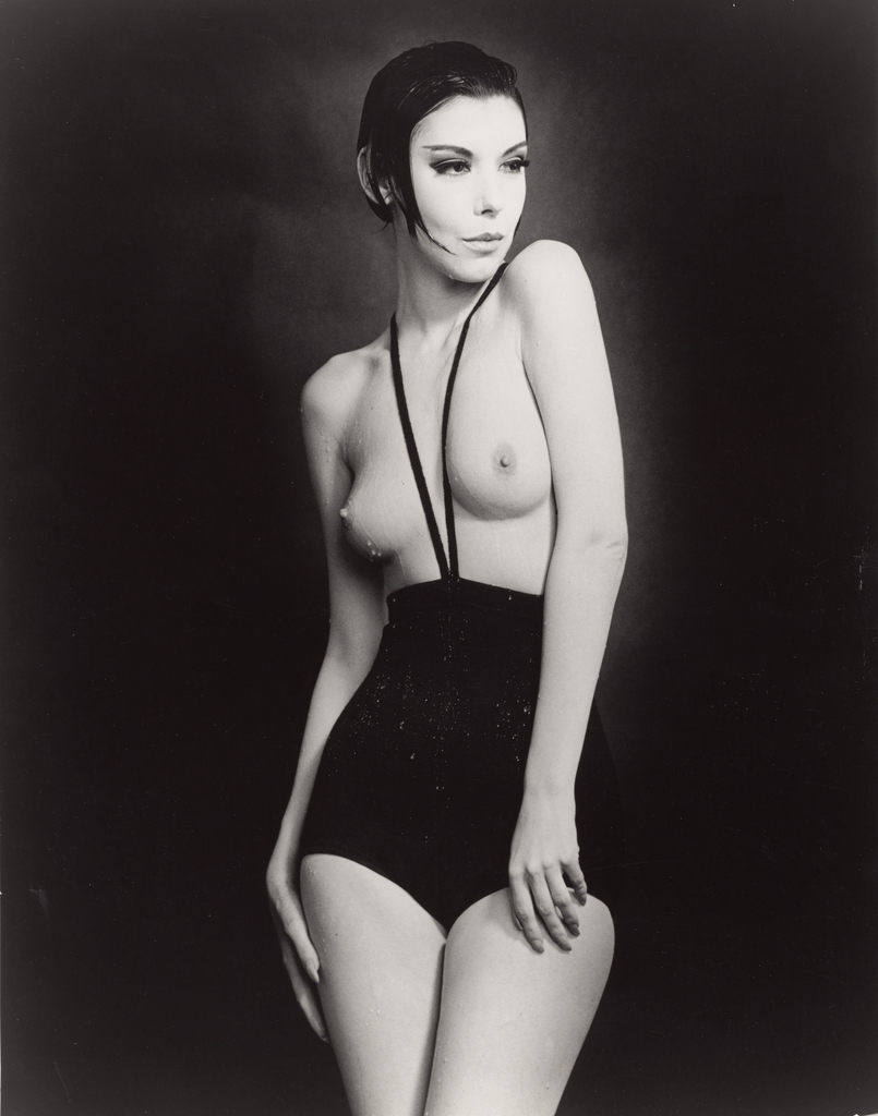 Rudi gernreich  peggy moffitt in the  topless swimsuit   1964
