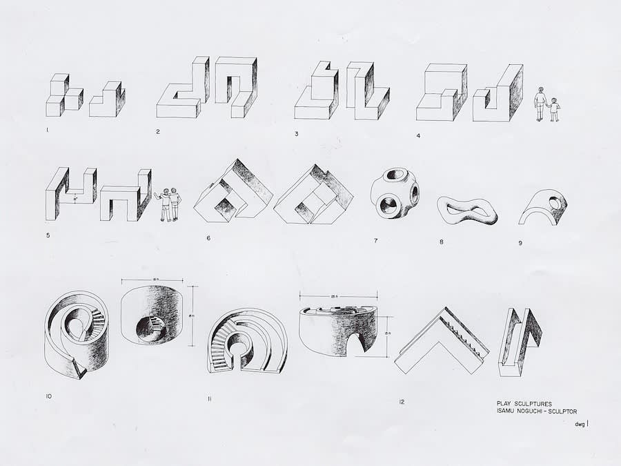 Isamu Noguchi, Drawings for Playscapes, 1966-76