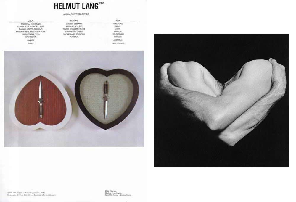 Helmut Lang, Ad Campaign, S/S 1997, Use of Robert Mapplethorpe's Photographs and Artworks