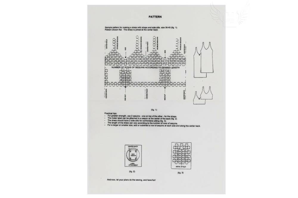 Paco Rabanne, DIY Disk Dress, Dress Instructions