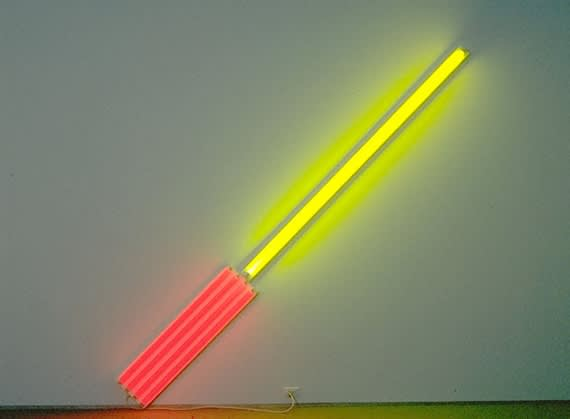Dan flavin  alternate diagonals of march 2  1964  to don judd