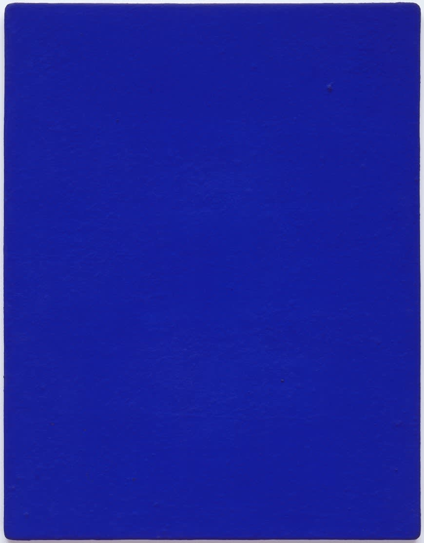 Yves klein untitled blue monochrome  ikb 82