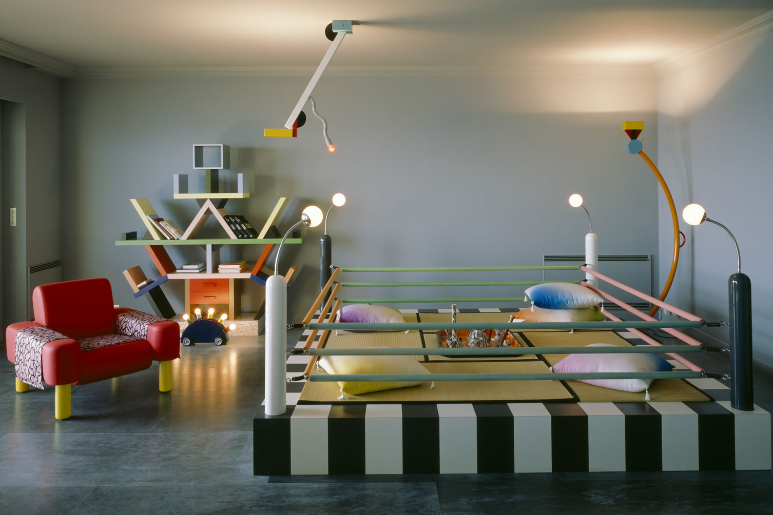 Karl lagerfeld and his memphis design apartment