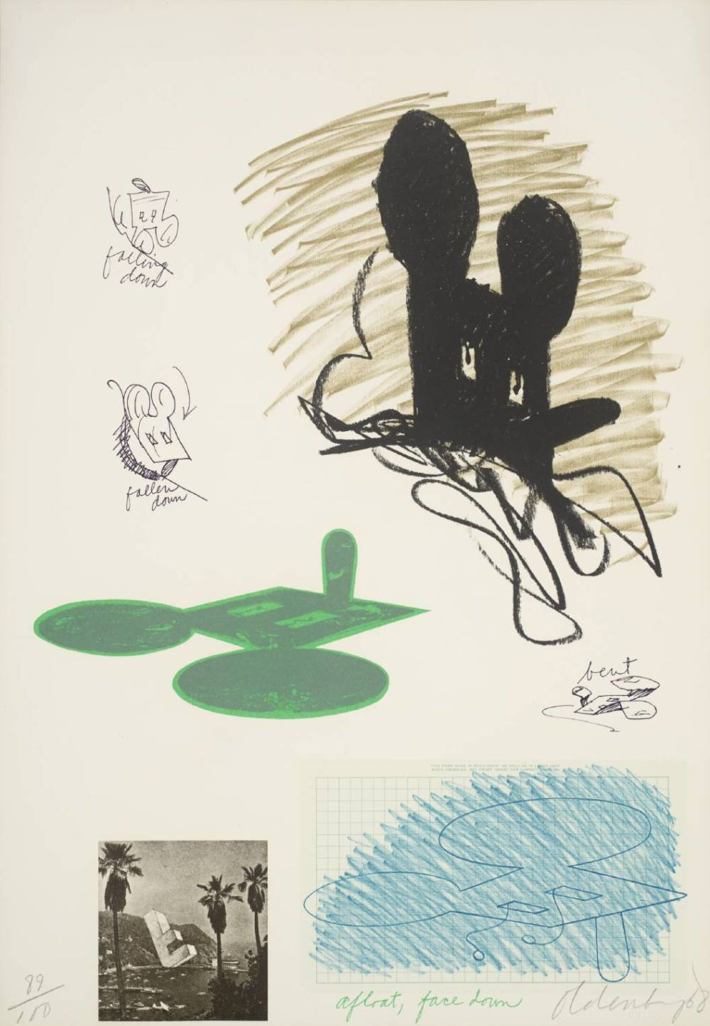 Claes Oldenburg, Notes (Micky Mouse), 1968