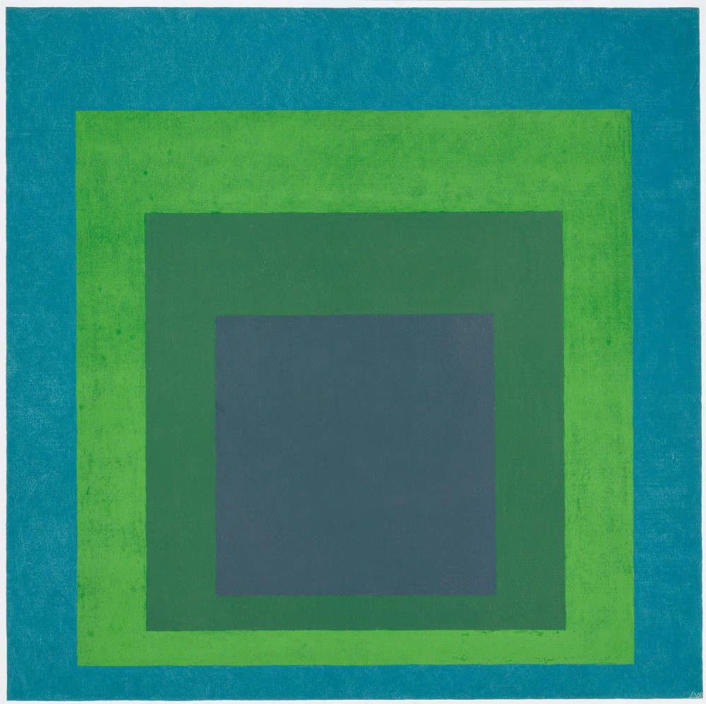Josef albers homage to the square  soft spoke  1969