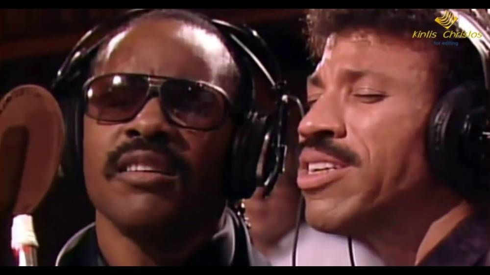 Stevie Wonder and Lionel Richie , We Are the World, 1985
