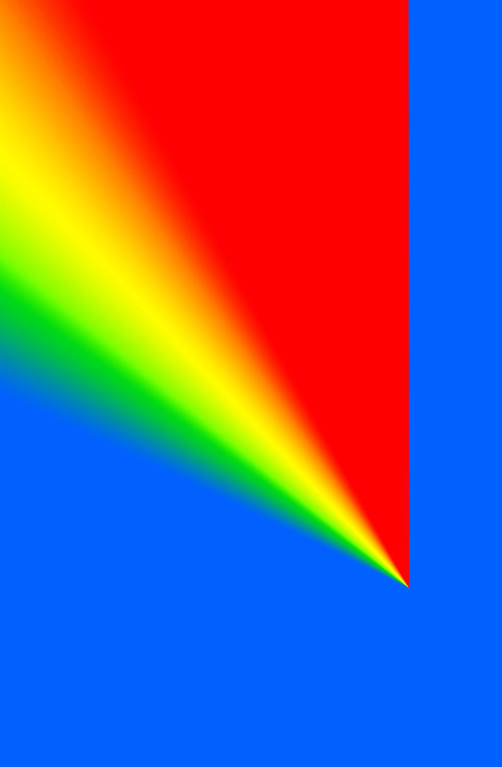 Cory arcangel   photoshop cs  110 by 72 inches  300 dpi  rgb  square pixels  default gradient    russell   s rainbow     tur