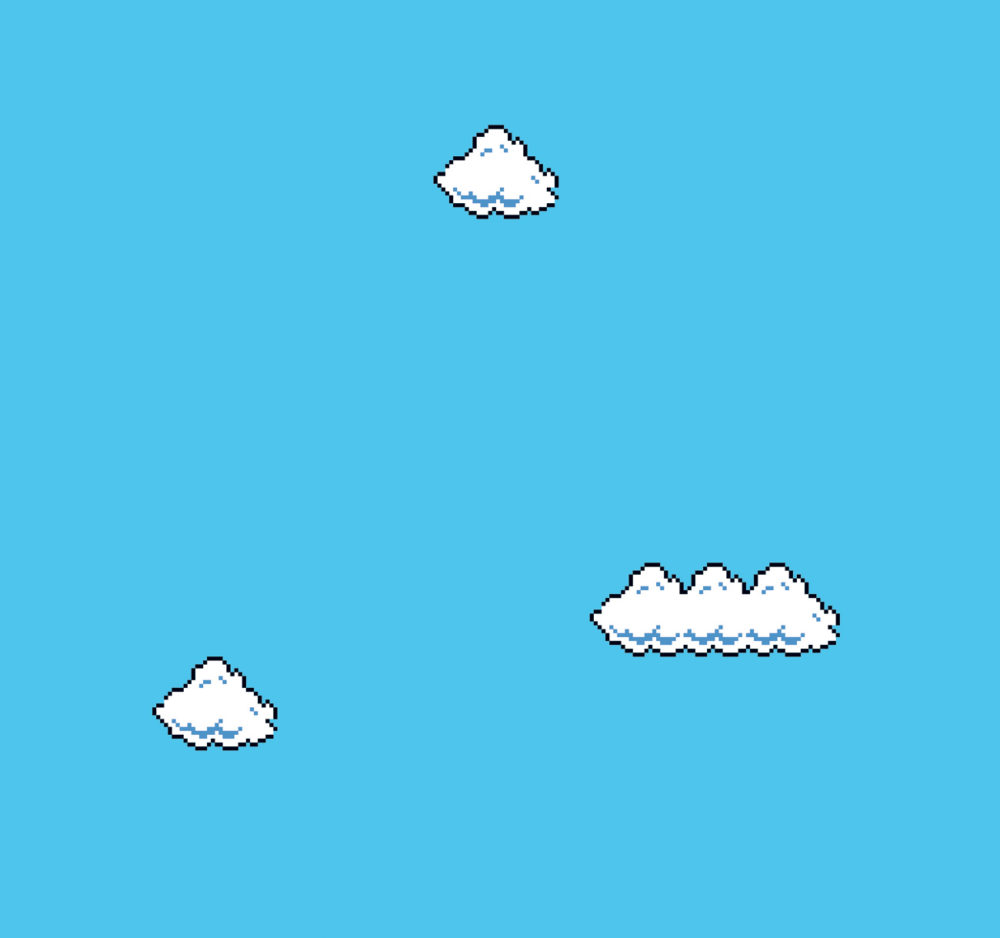 Cory arcangel  super mario clouds