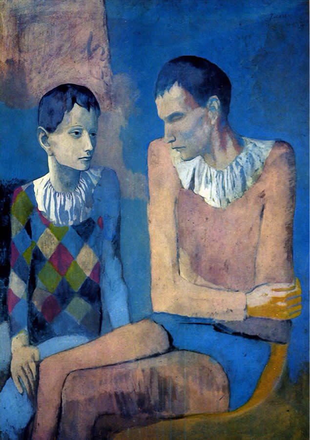 Pablo picasso  acrobat and young harlequin  1905