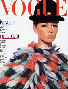 Helmut newton  balenciaga  papacha  coat  french vogue  november  1964