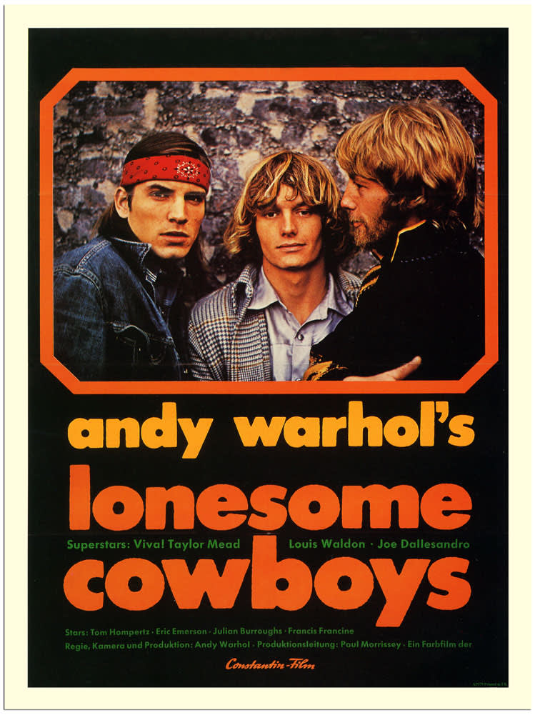 Andy Warhol, Film Poster for Lonesome Cowboys