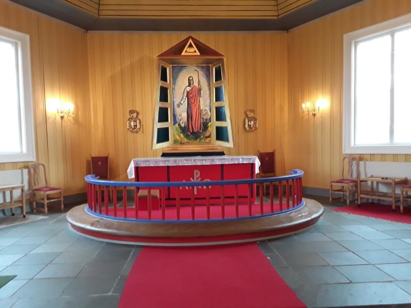 Fra Kautokeino kirke. Foto Bjørn Pettersen
