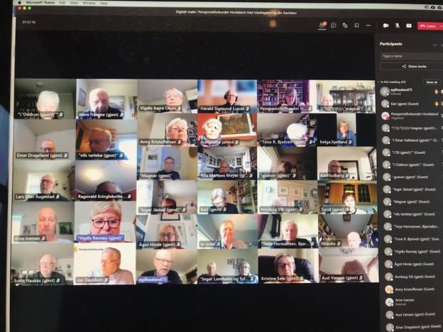 """På våre digitale møter er det """"mye grått hår"""" som en av deltakerne sa det så treffende.  Og mye erfaring og frivillighet."""