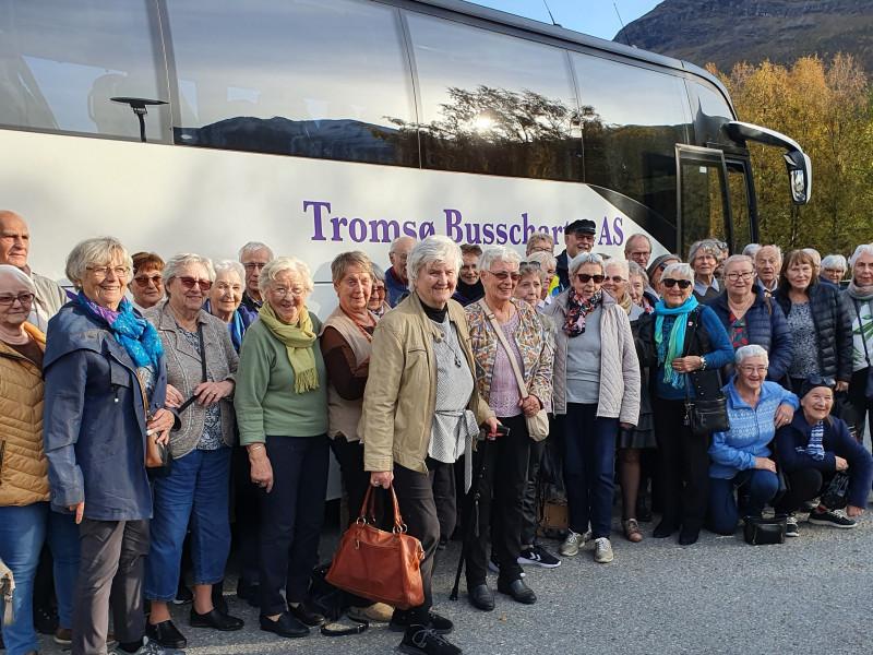 Det var mange som ønsket å være med på bussturene til Tromsø Pensjonistforening etter pandemien.