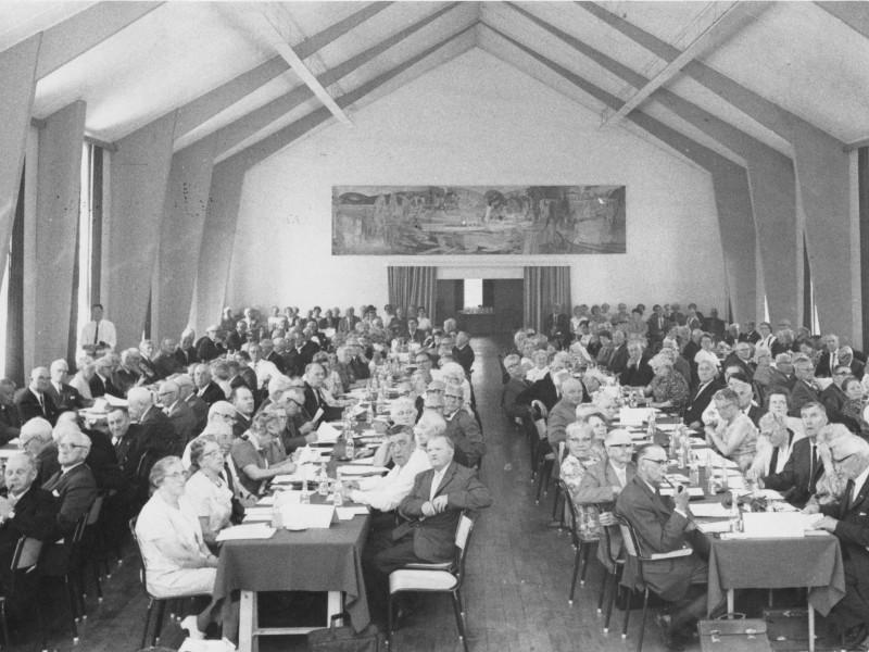 Under landsmøtet i 1969 var 226 personer benket i salen på Gjøvik Gård.