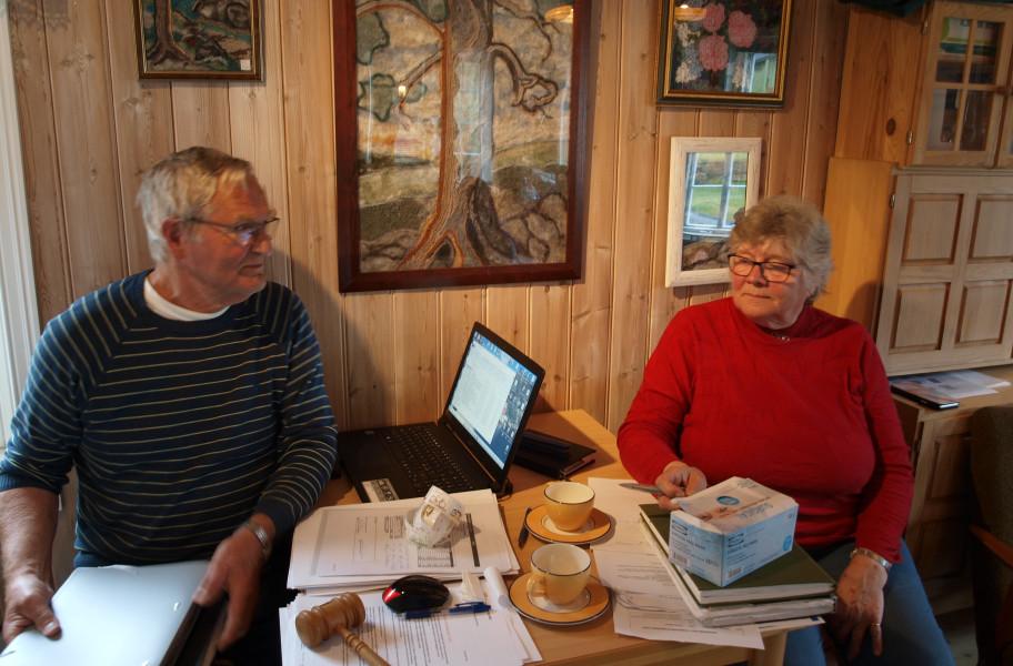 Leder Tore Moen og sekretær Inger Johanne Johnsen