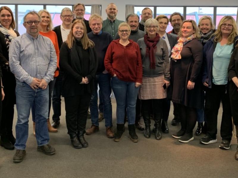Hele 22 organisasjoner er representert i den nystartede bostøttealliansen.  (Foto: Bjørg Karin B. Buttedahl)