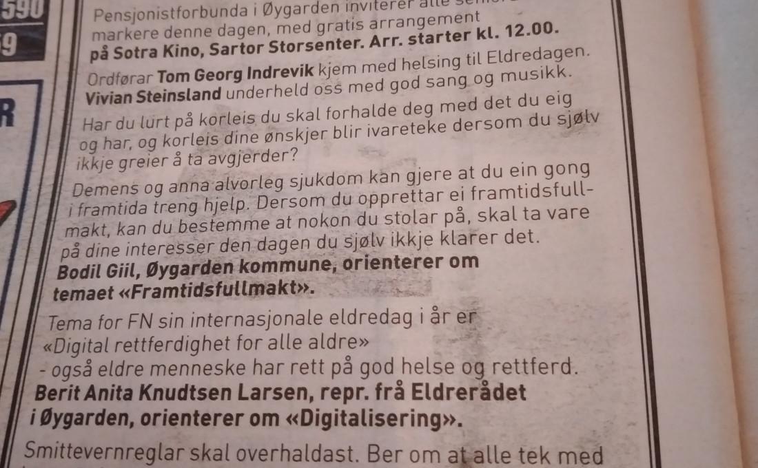 Bilde fra annonse i Vestnytt fredag 24.9.21