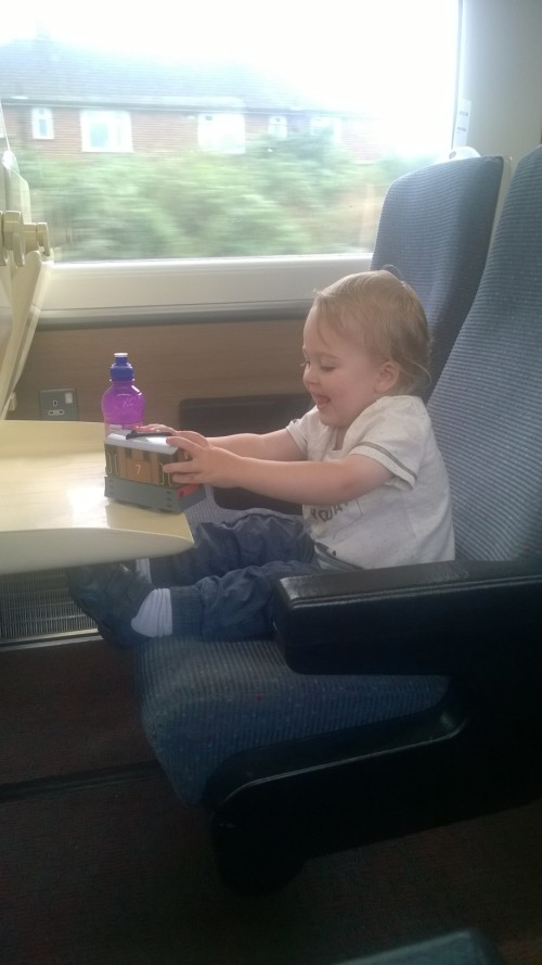 Elijah enjoyed the train at least!