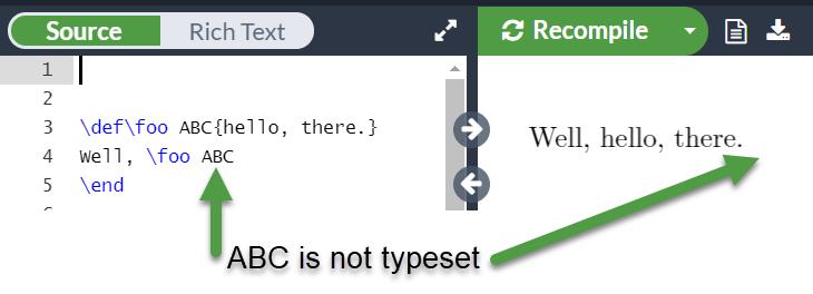 Overleaf running a TeX macro