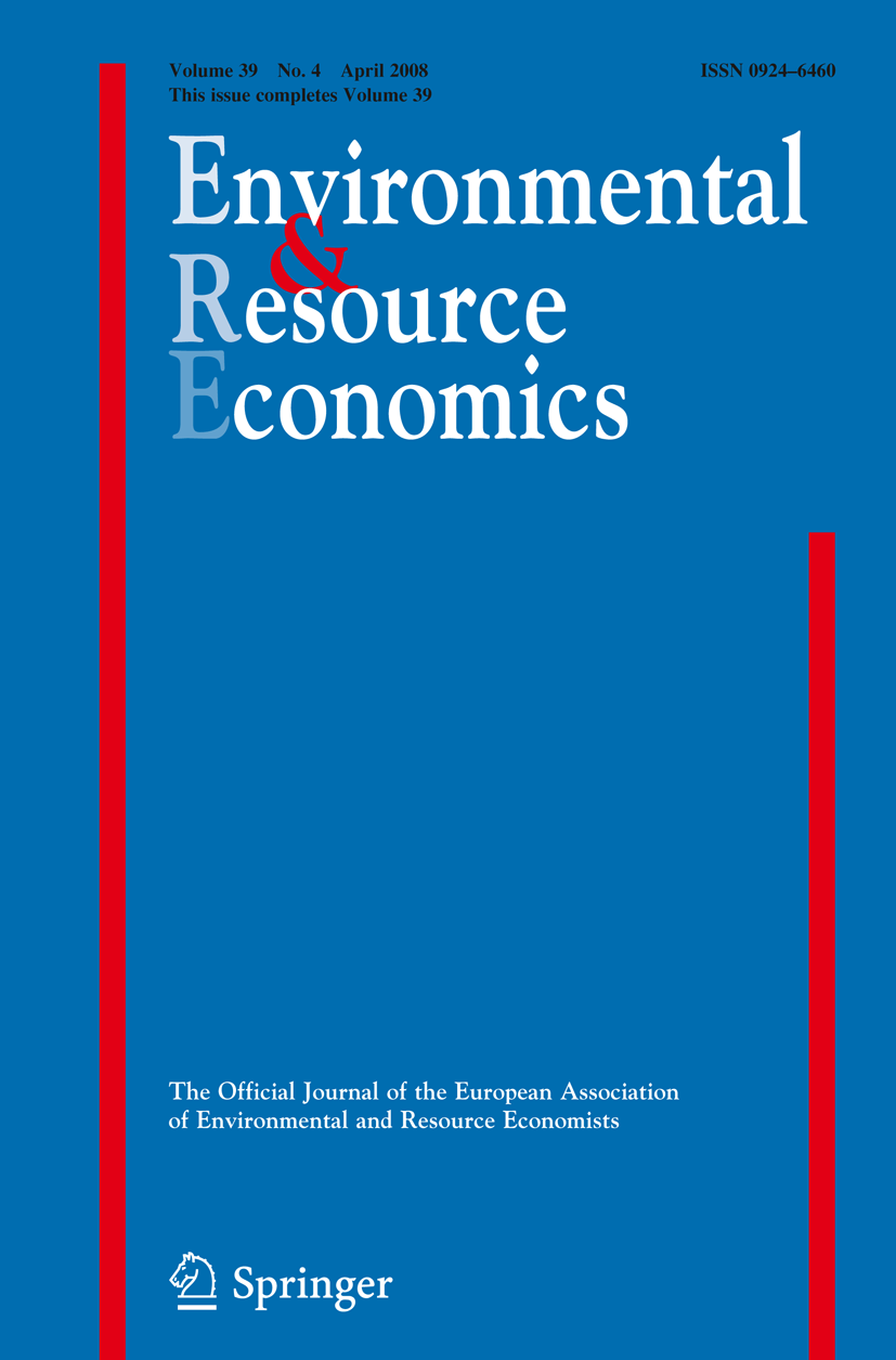 Environmental and Resource Economics - Springer LaTeX Template