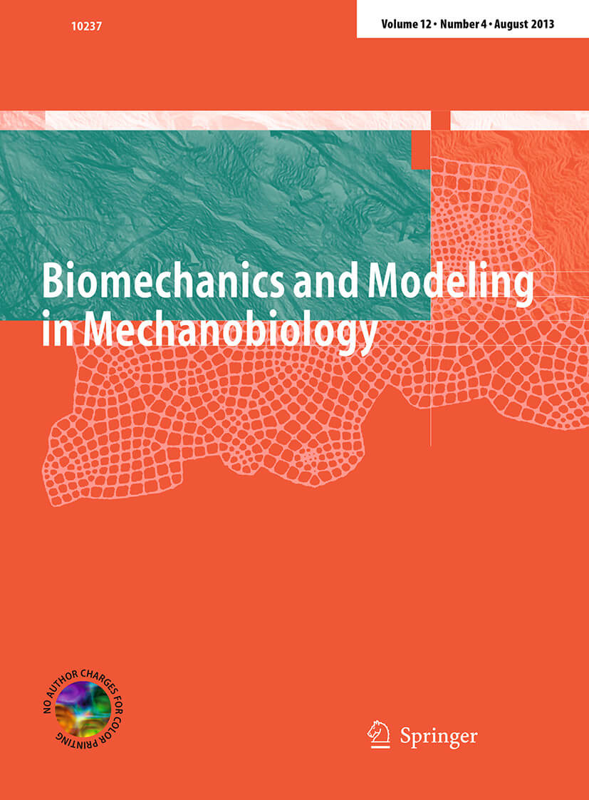 Biomechanics and Modeling in Mechanobiology - Springer LaTeX Template