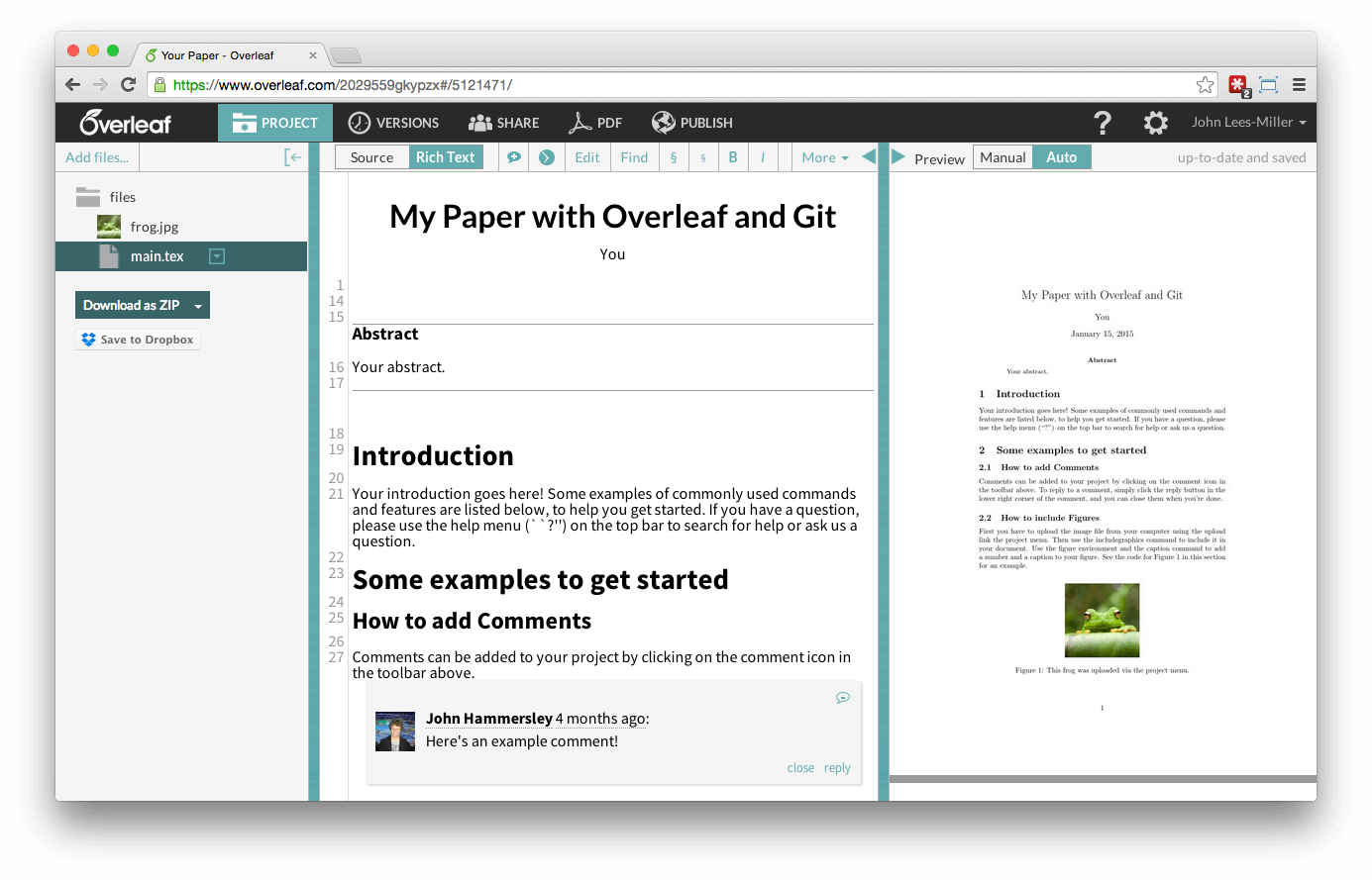 Overleaf project updated with changes from git