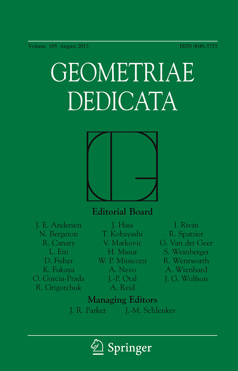 Geometriae Dedicata - Springer LaTeX Template