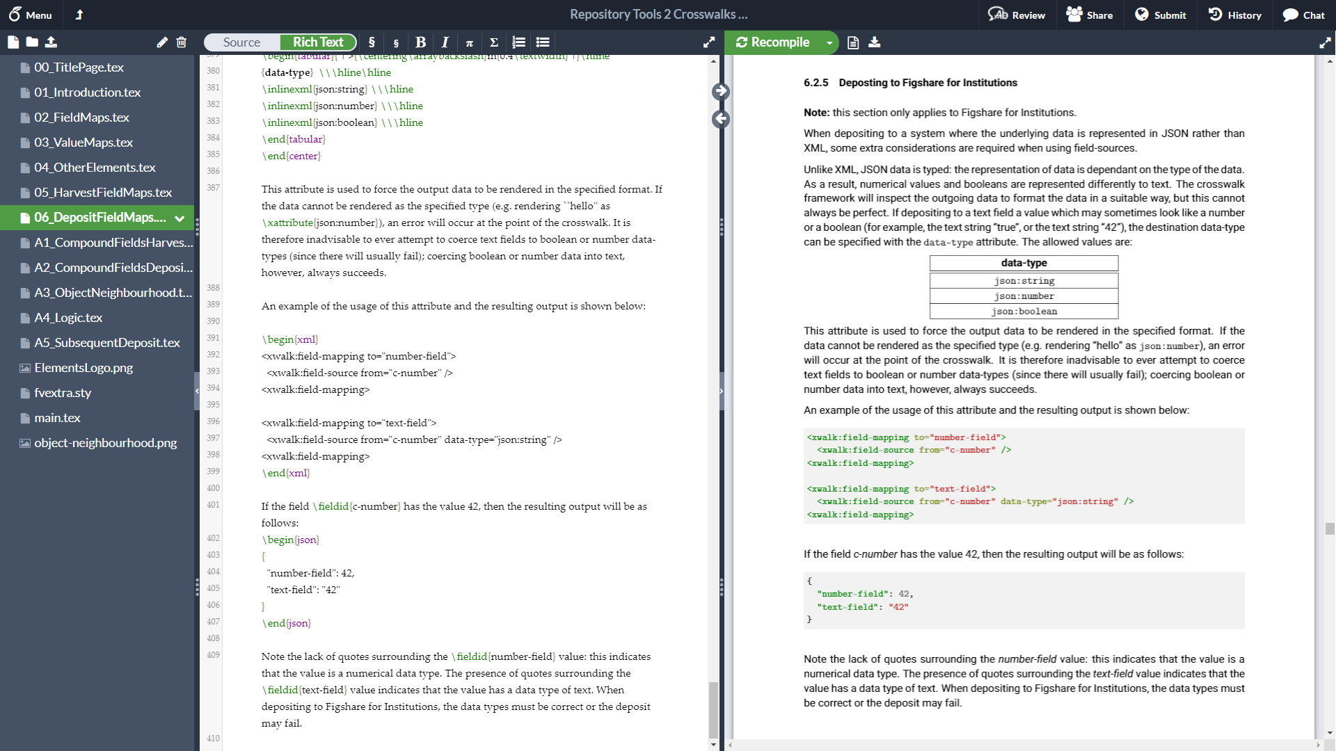 Screenshot of Symplectic documentation in Overleaf